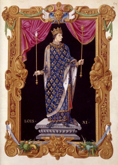 """Людовик XI. Портрет из книги Жана де Тилле """"Короли Франции"""". Изображение из Википедии"""
