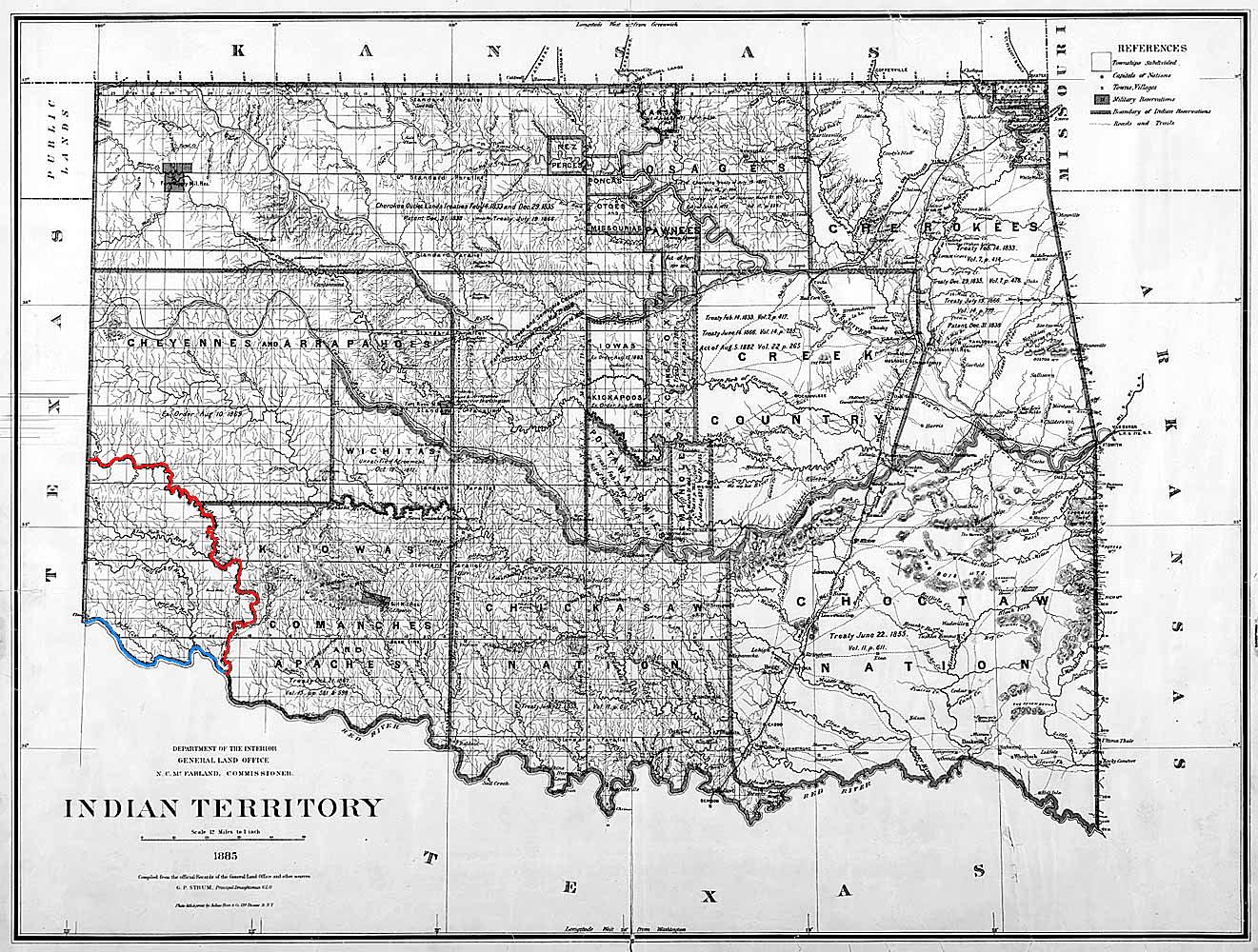 Map Of North Texas And Oklahoma.Greer County Texas Wikipedia