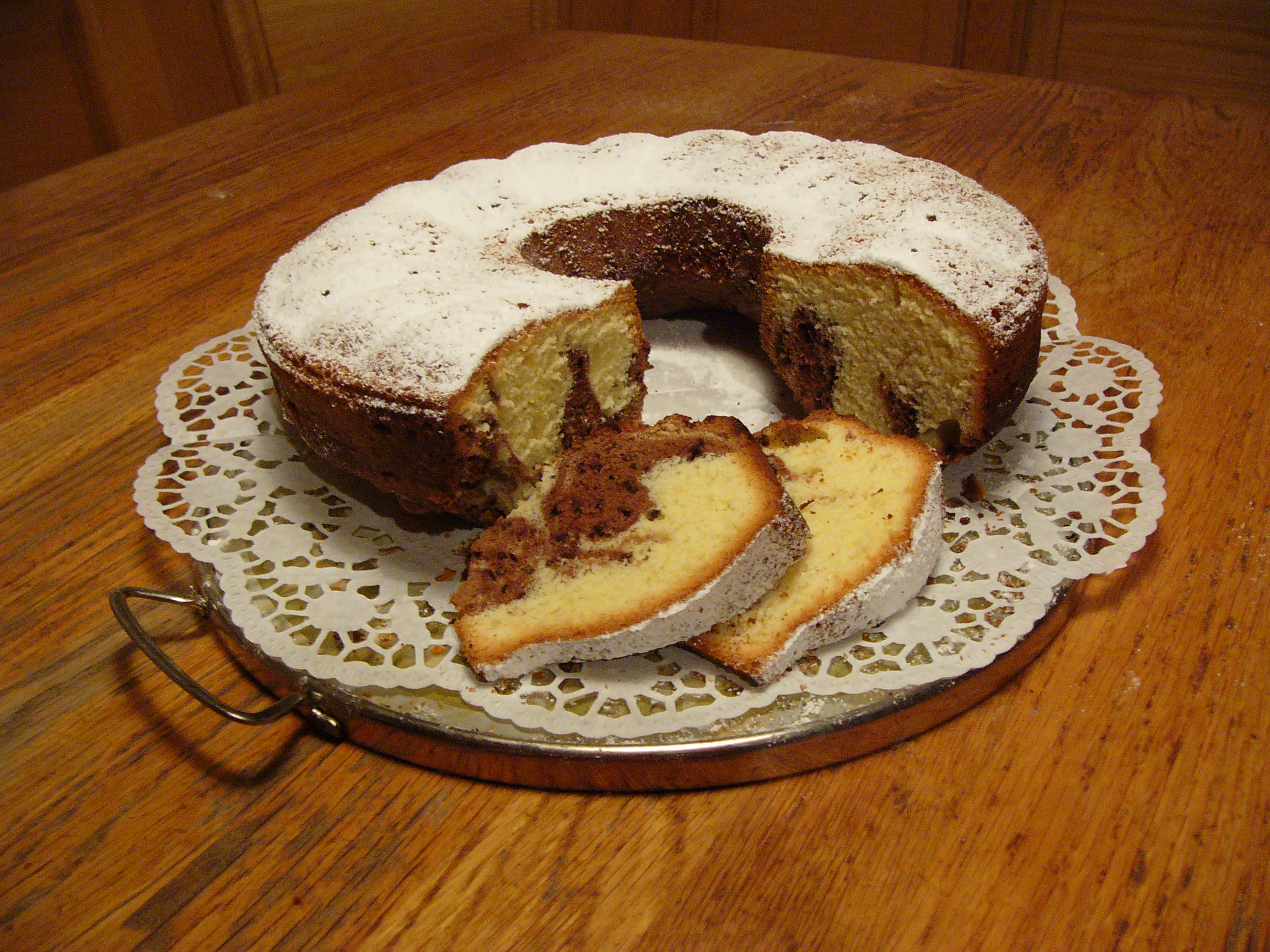 Marble Pound Cake Sour Cream