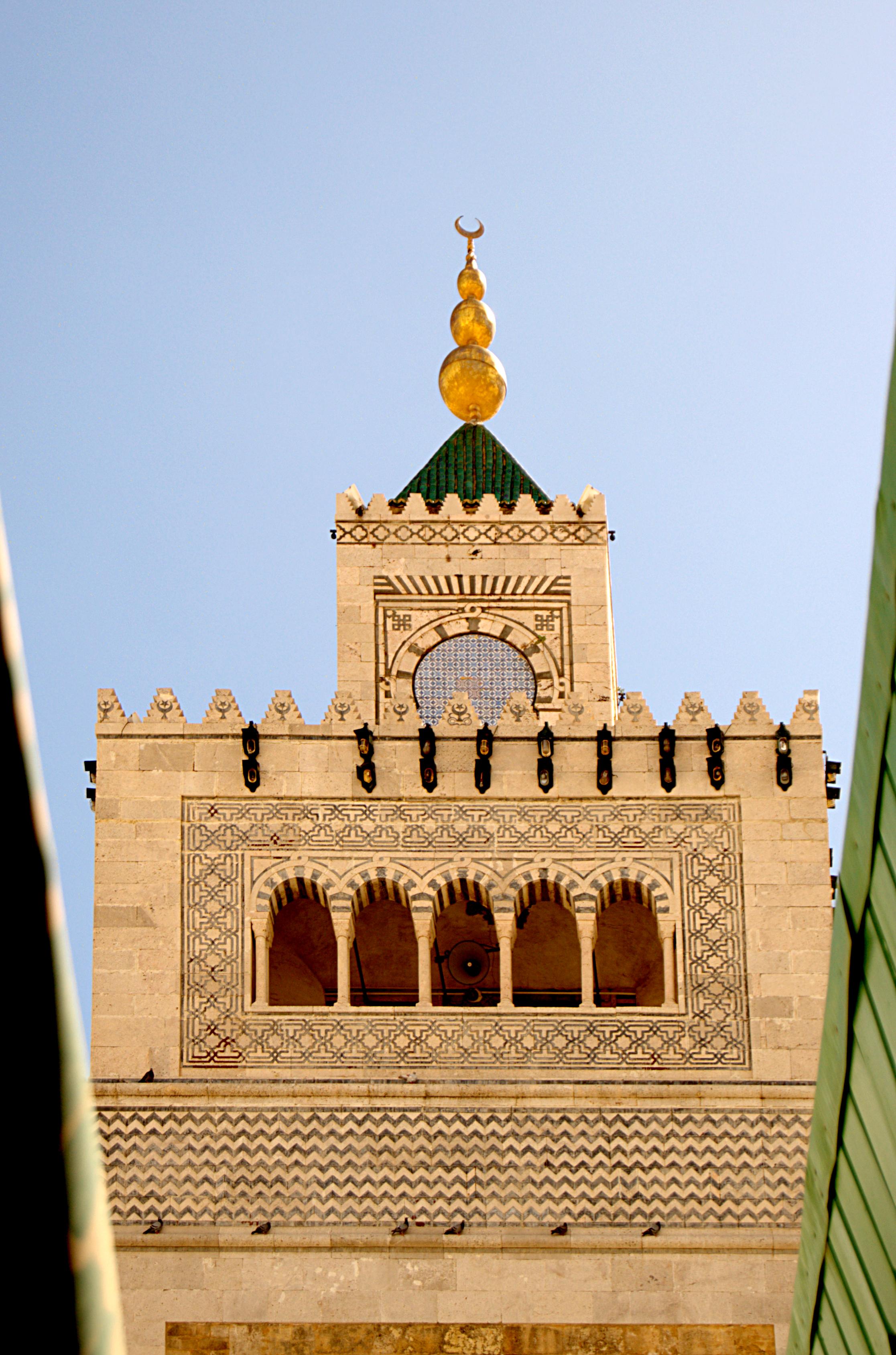Minaret de la Mosquée de la Zitouna, Tunis, 21 septembre 2013, (09).jpg