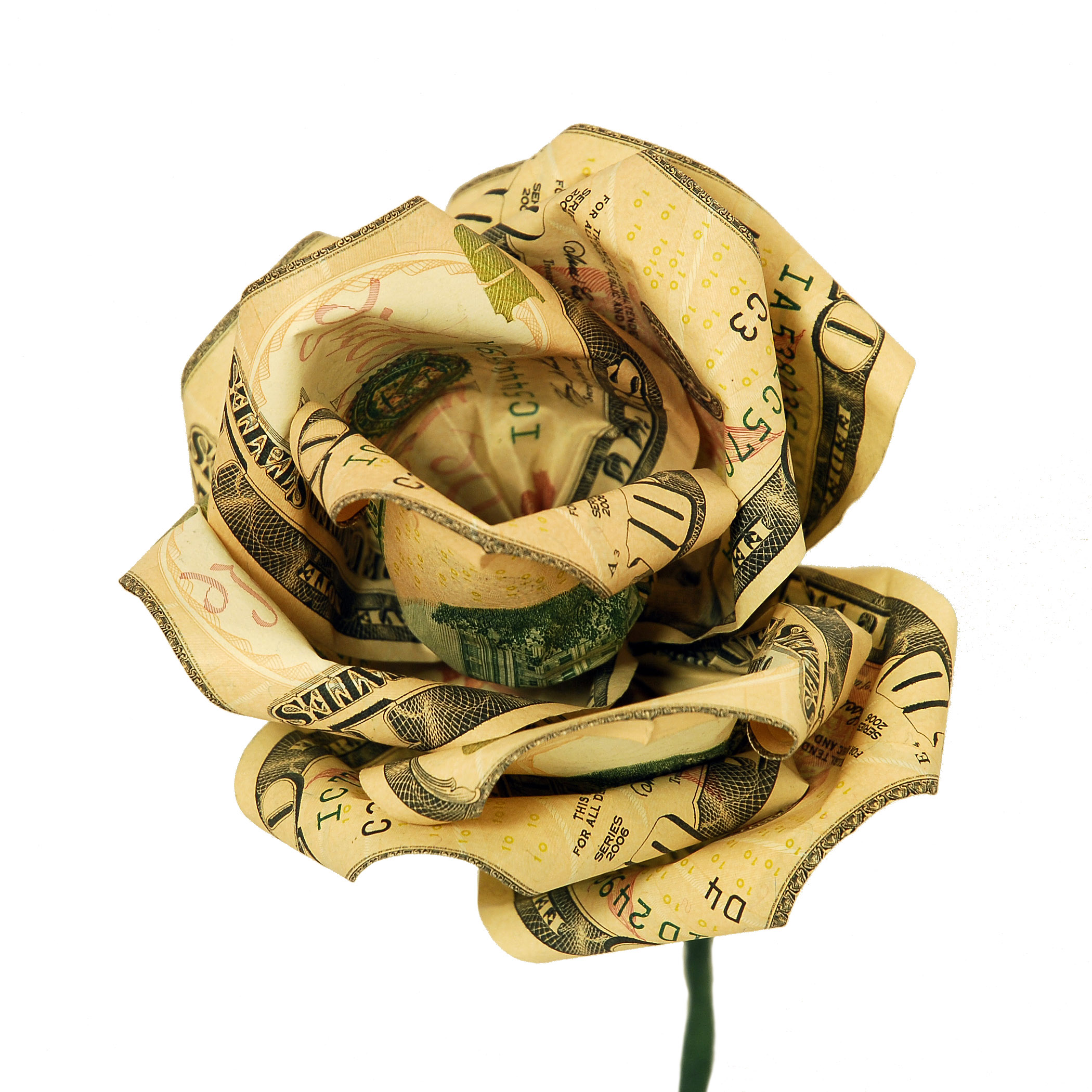 Origami Rose Dollar Bill Video