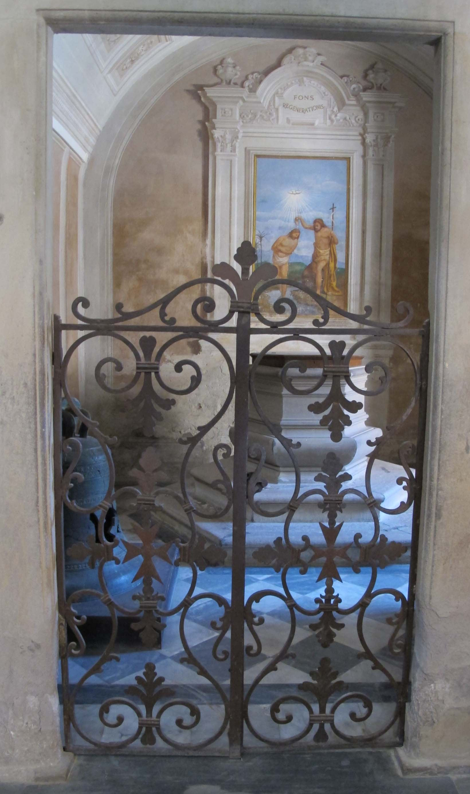 File Montaione San Regolo Interno 09 Battistero Jpg