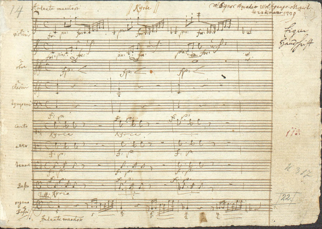 Autograph manuscript of the opening page