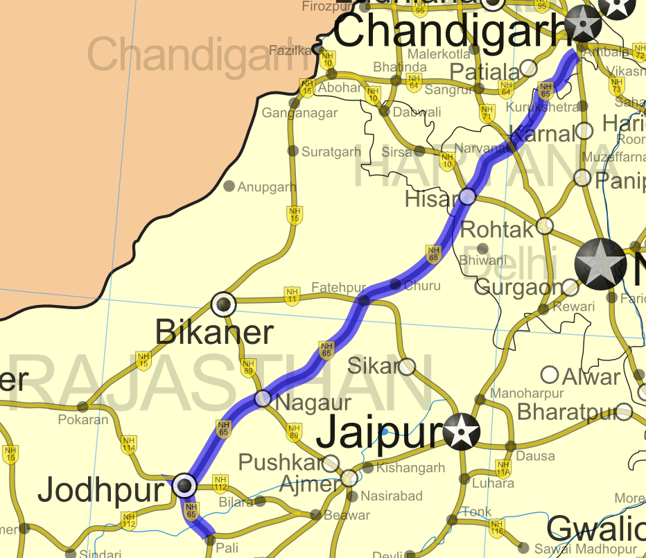 Road Map of India Maharashtra Road Map of India With