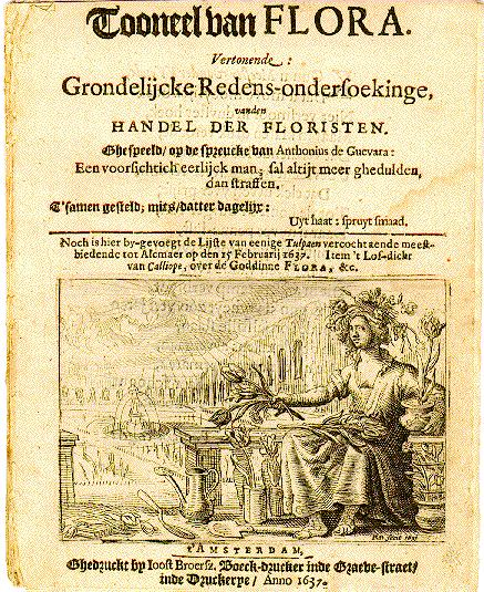 Pamphlet from the Dutch tulipomania, printed in 1637 Pamphlet dutch tulipomania 1637.jpg
