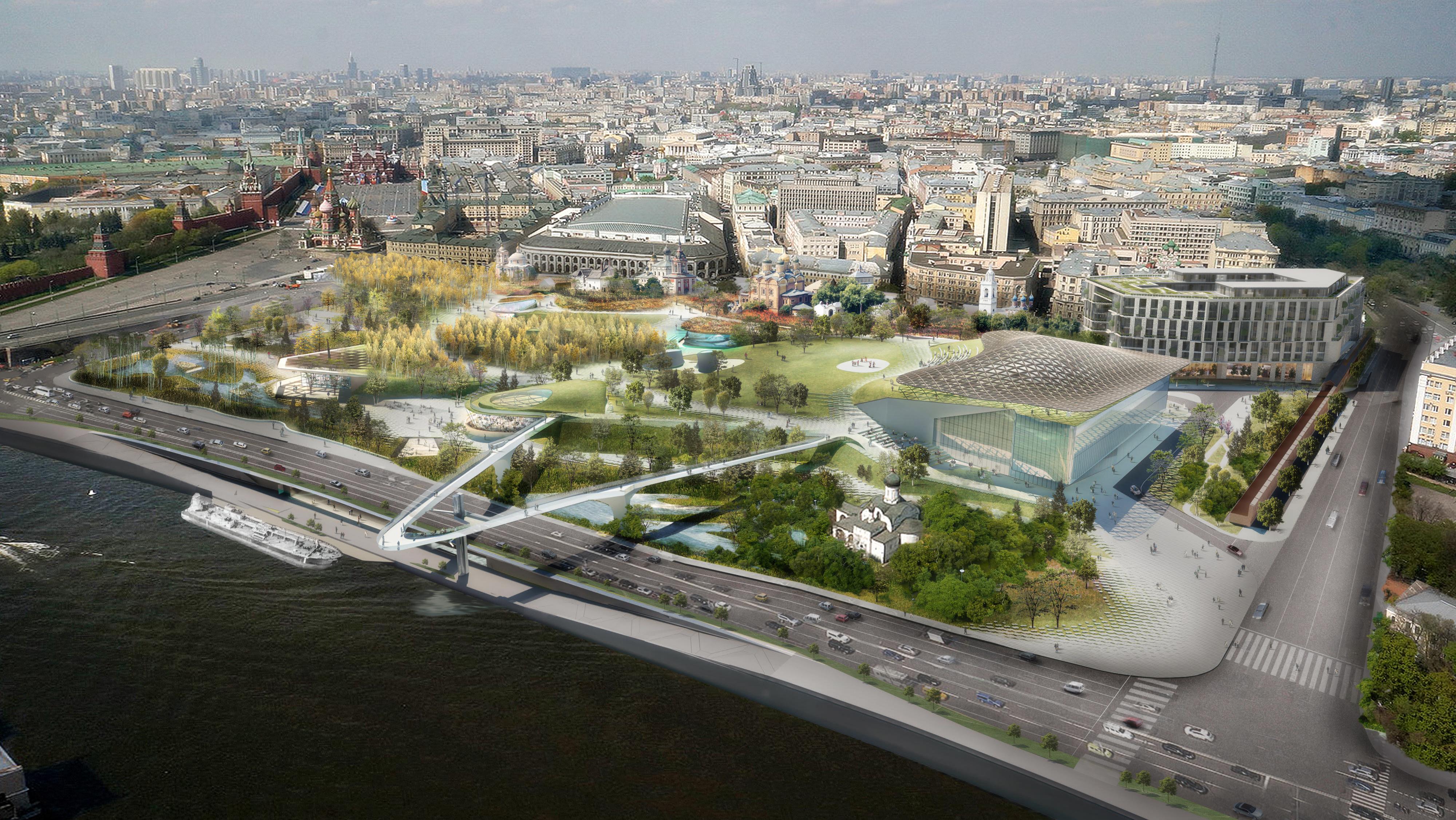 Проект парка Зарядье