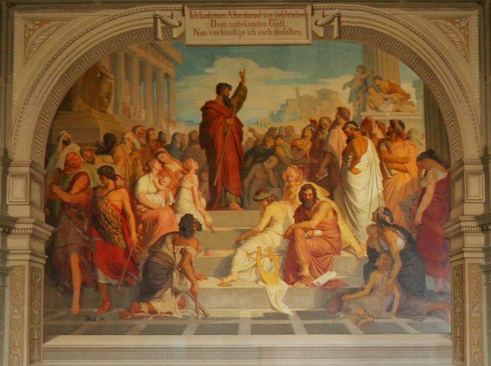 Ficheiro:Paulus predigt in Athen - Aula des Johanneums Zittau.jpg