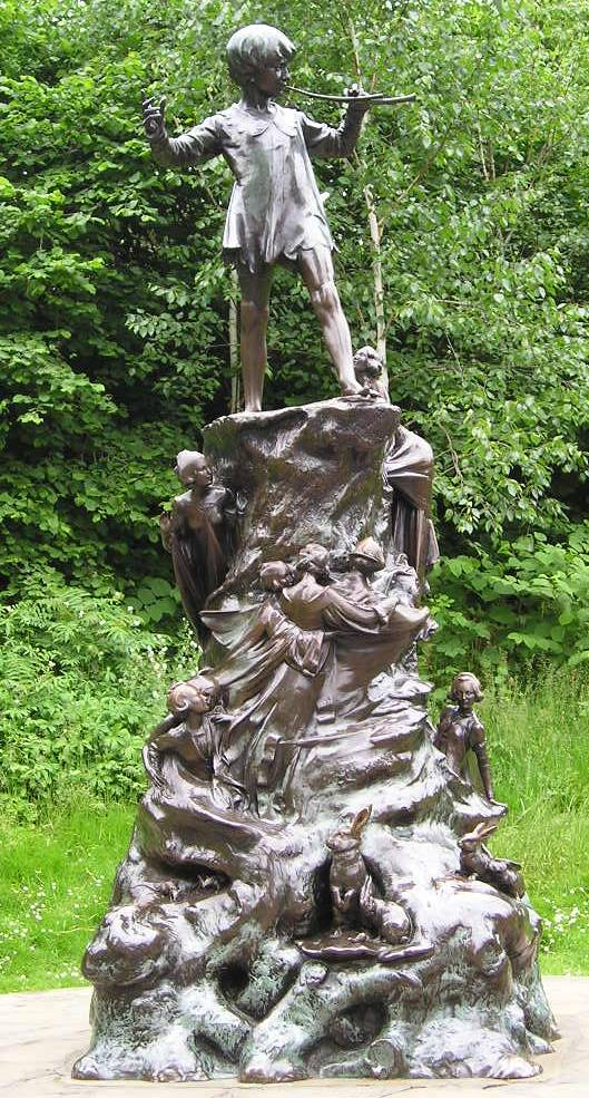 Image result for statue of peter pan
