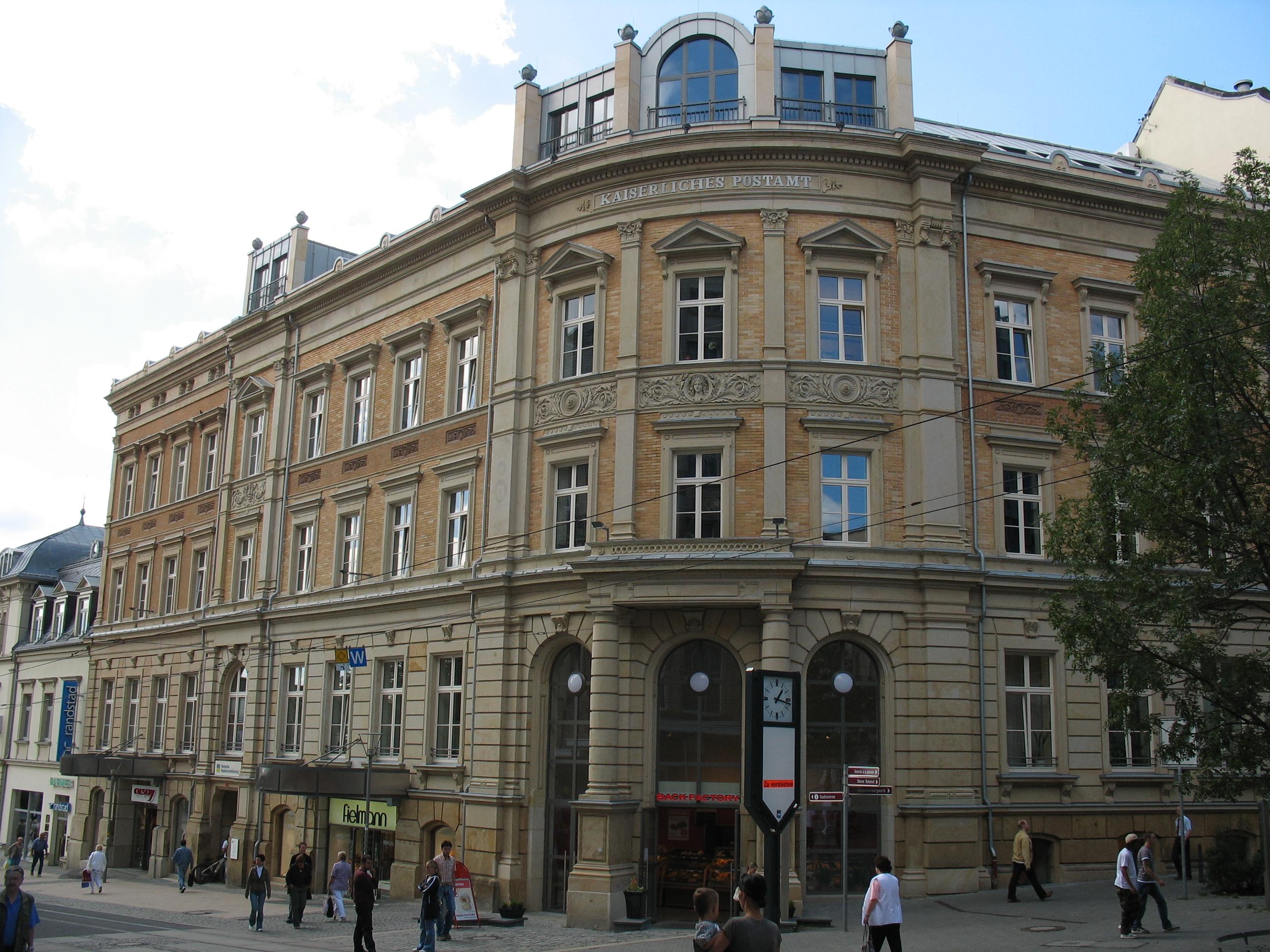 Datei:Plauen, Postplatz 3-4 - Hauptpostamt.jpg – Wikipedia