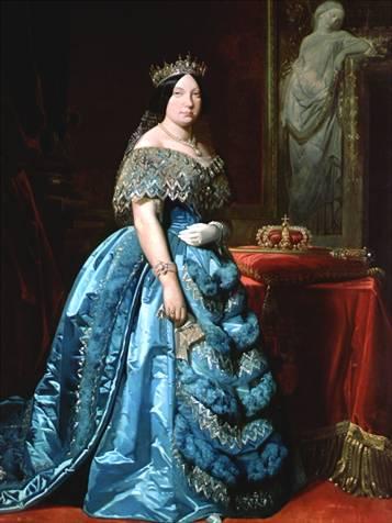 Retrato de Isabel II de España.