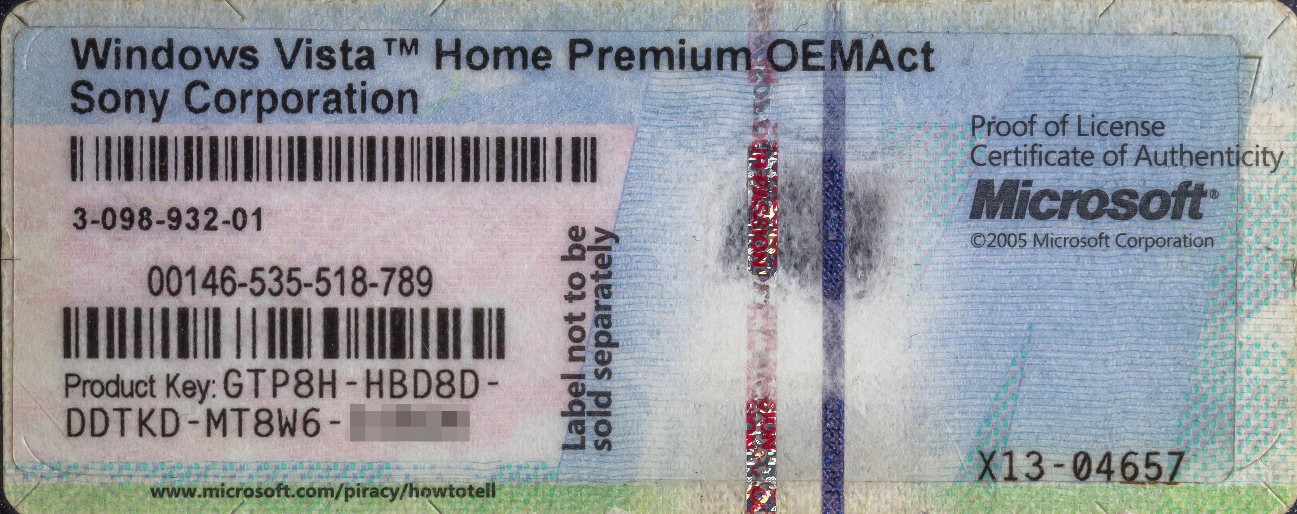 Windows Vista Home Premium Cd – Built By Michael Martinez ...
