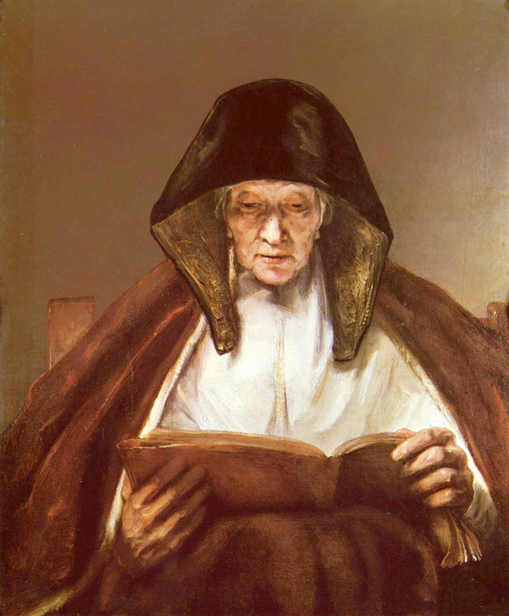 Rembrandt, Old woman reading, owned by the Duke of Buccleuch