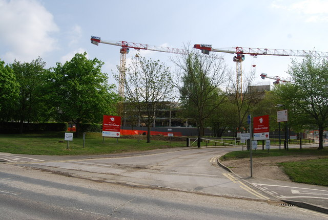 Renovating West Kent College - geograph.org.uk - 1276096.jpg English: Renovating West Kent College A major building programme is under way