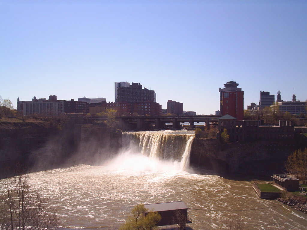 rochester york waterfall commons file wikimedia ny hipwallpaper