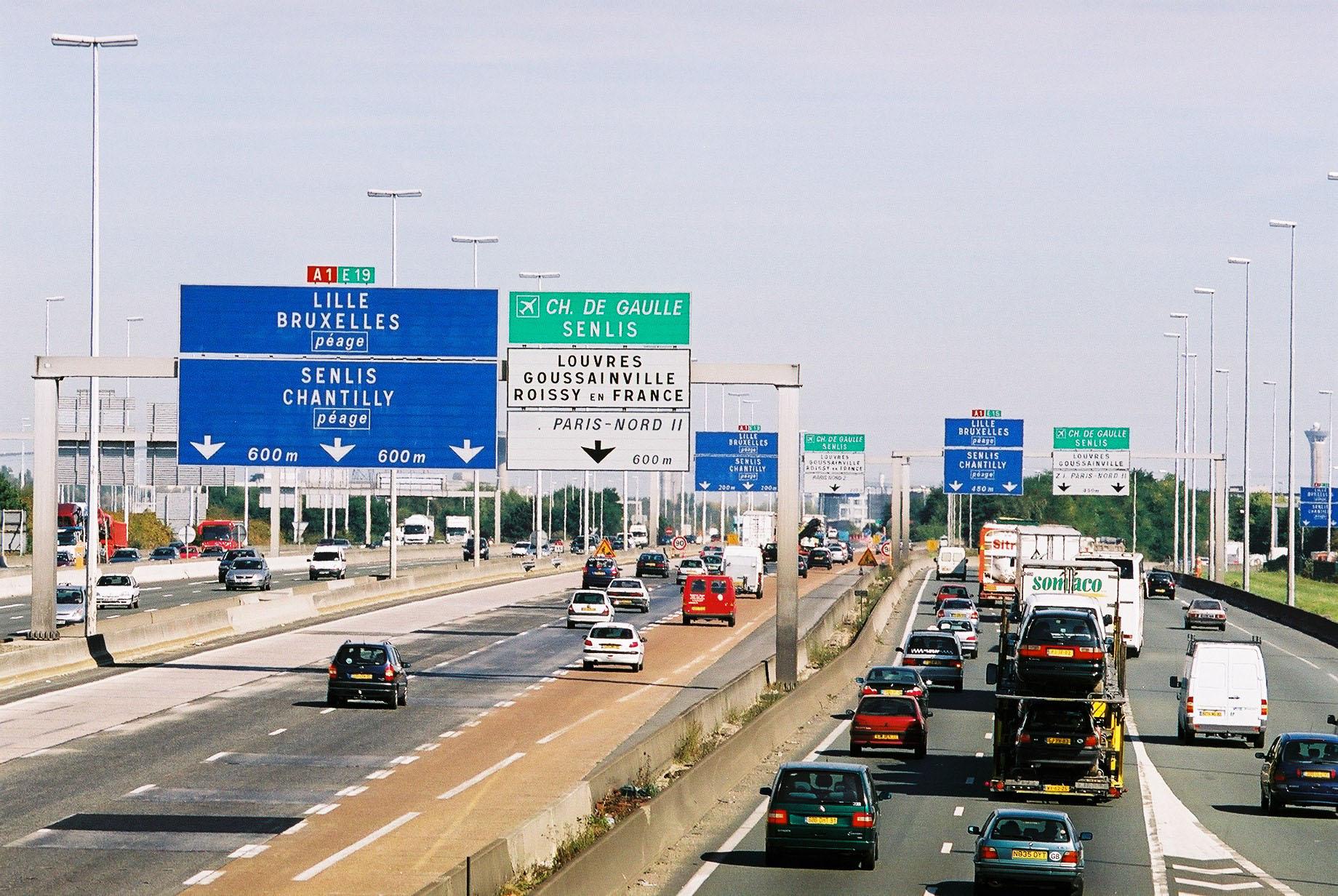 Resultado de imagen de autopista A1 con dirección a Lille