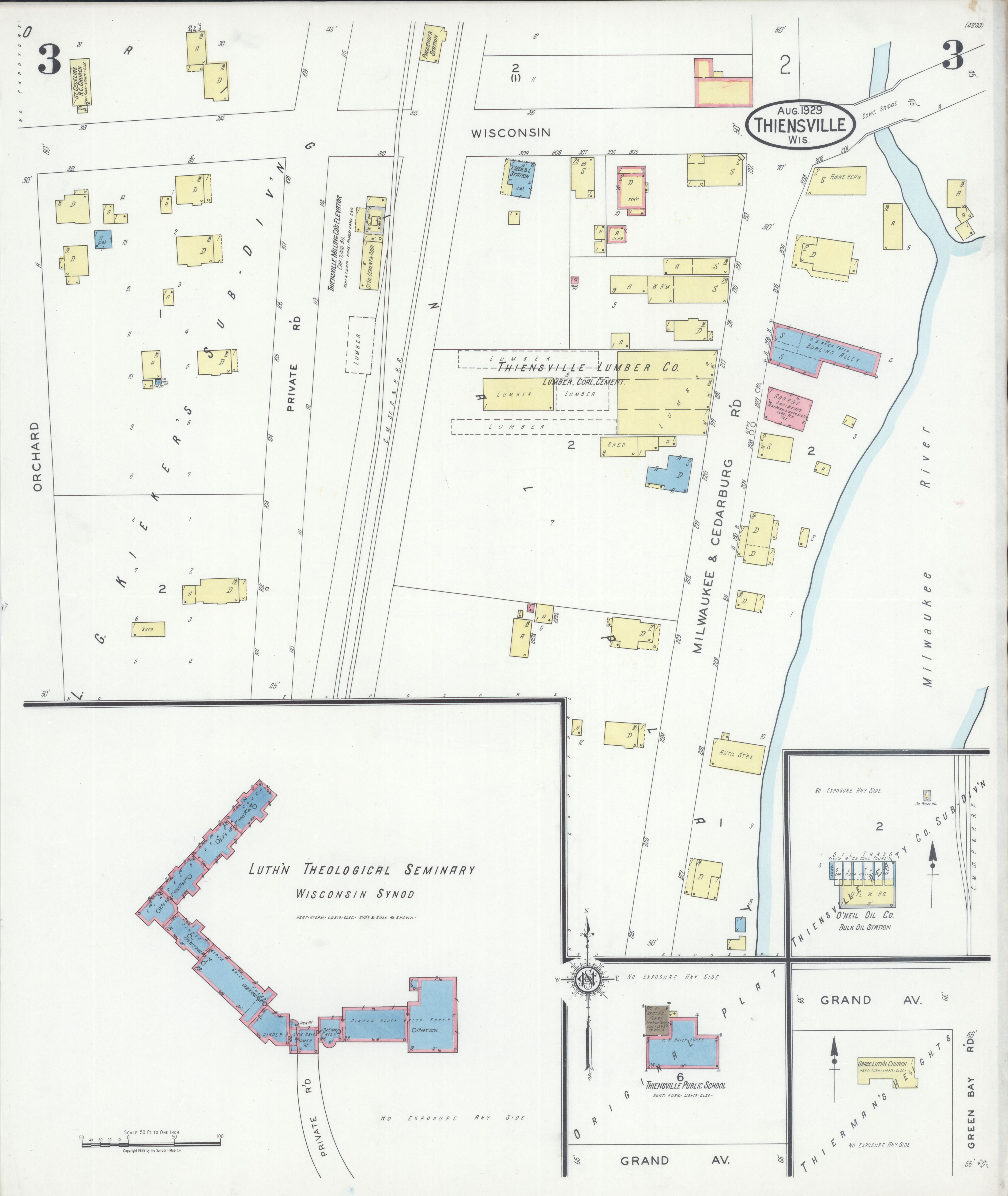 File:Sanborn Fire Insurance Map from Thiensville, Ozaukee ... on map of shorewood, map of greendale, map of wausau, map of menomonee falls, map of lake geneva, map of superior, map of pewaukee, map of elm grove, map of belgium, map of mukwonago, map of fox point, map of eau claire,