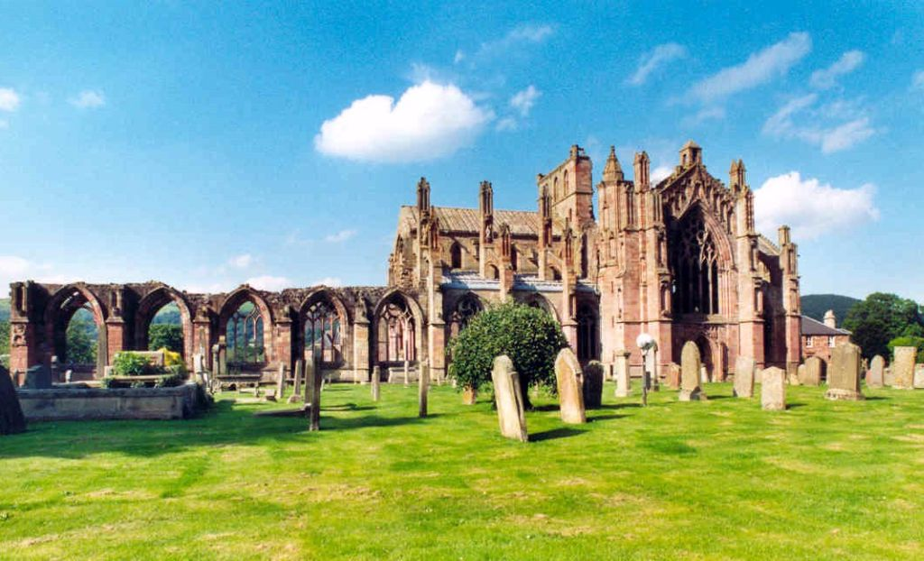 Melrose Abbey en Ecosse - Photo de Benutzer:Brunswyk