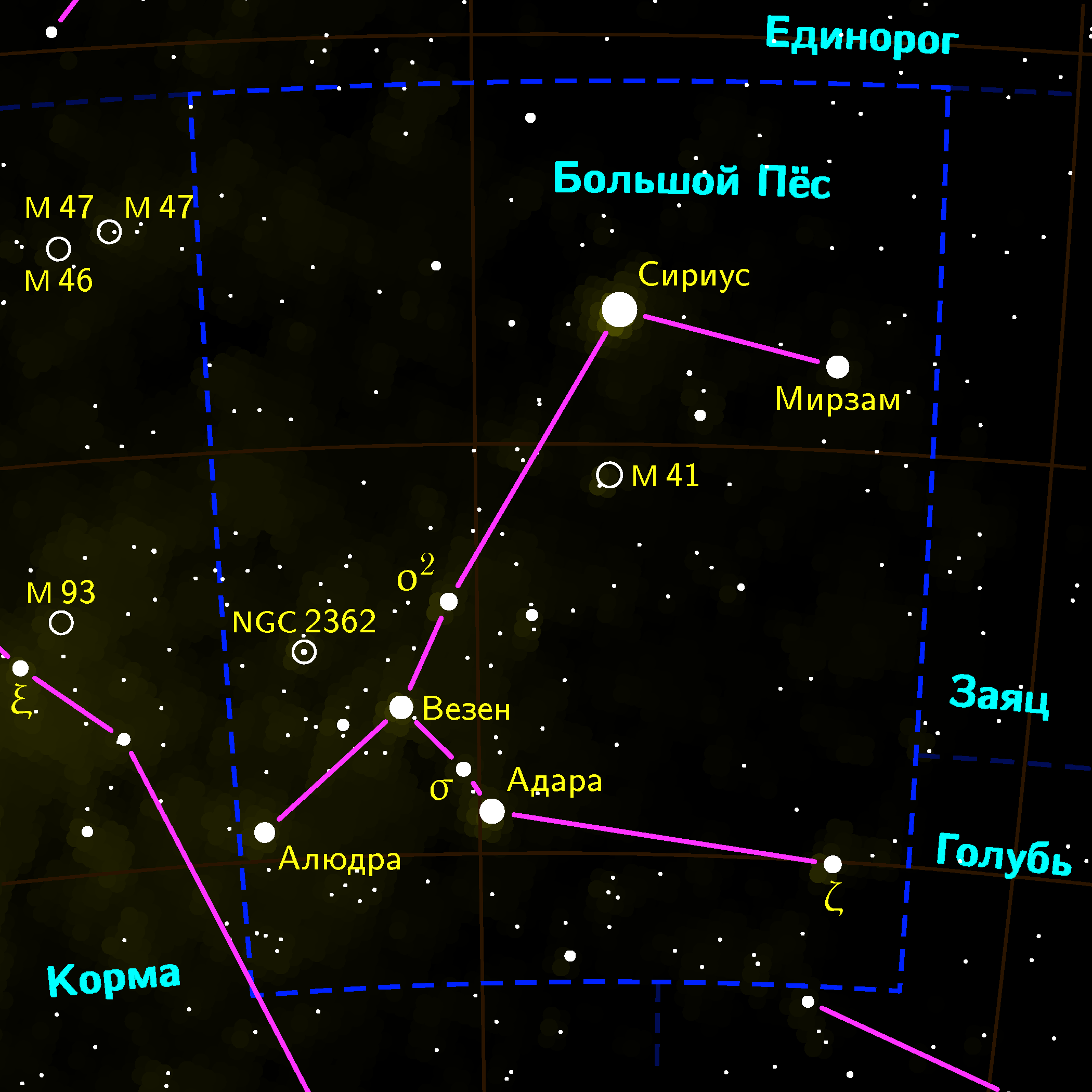 Canis Major Sirius Constellation