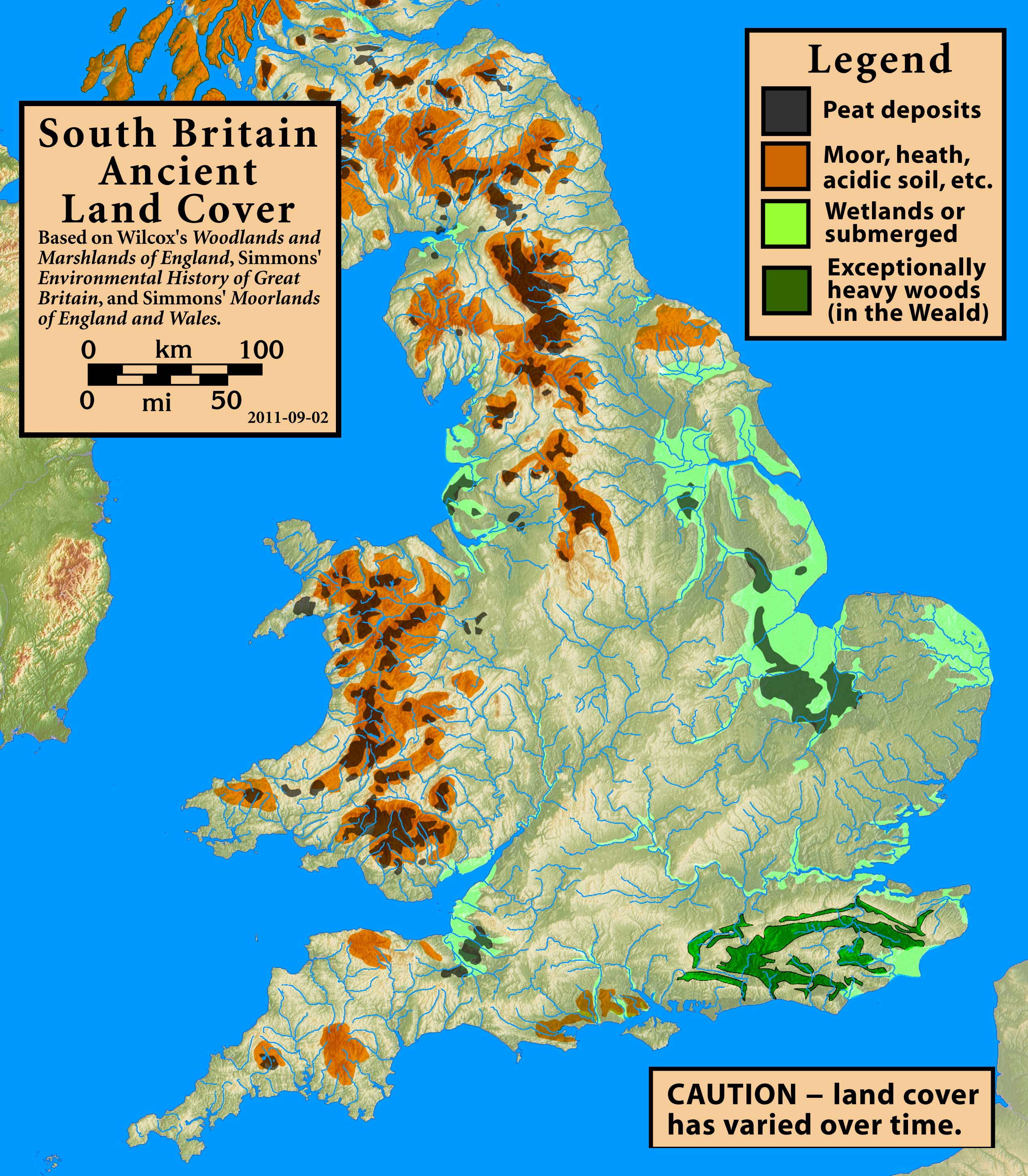 Map Of England Over Time.File South Britain Ancient Land Cover Jpg Wikimedia Commons