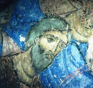 A 13th-century fresco depicting Saint Andrew, from Kintsvisi, Georgia St Andrew fresco (Kintsvisi, Georgia).JPG