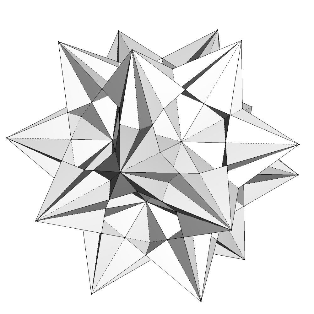 как сделать третью форму звездчатого икосаэдра пришелся
