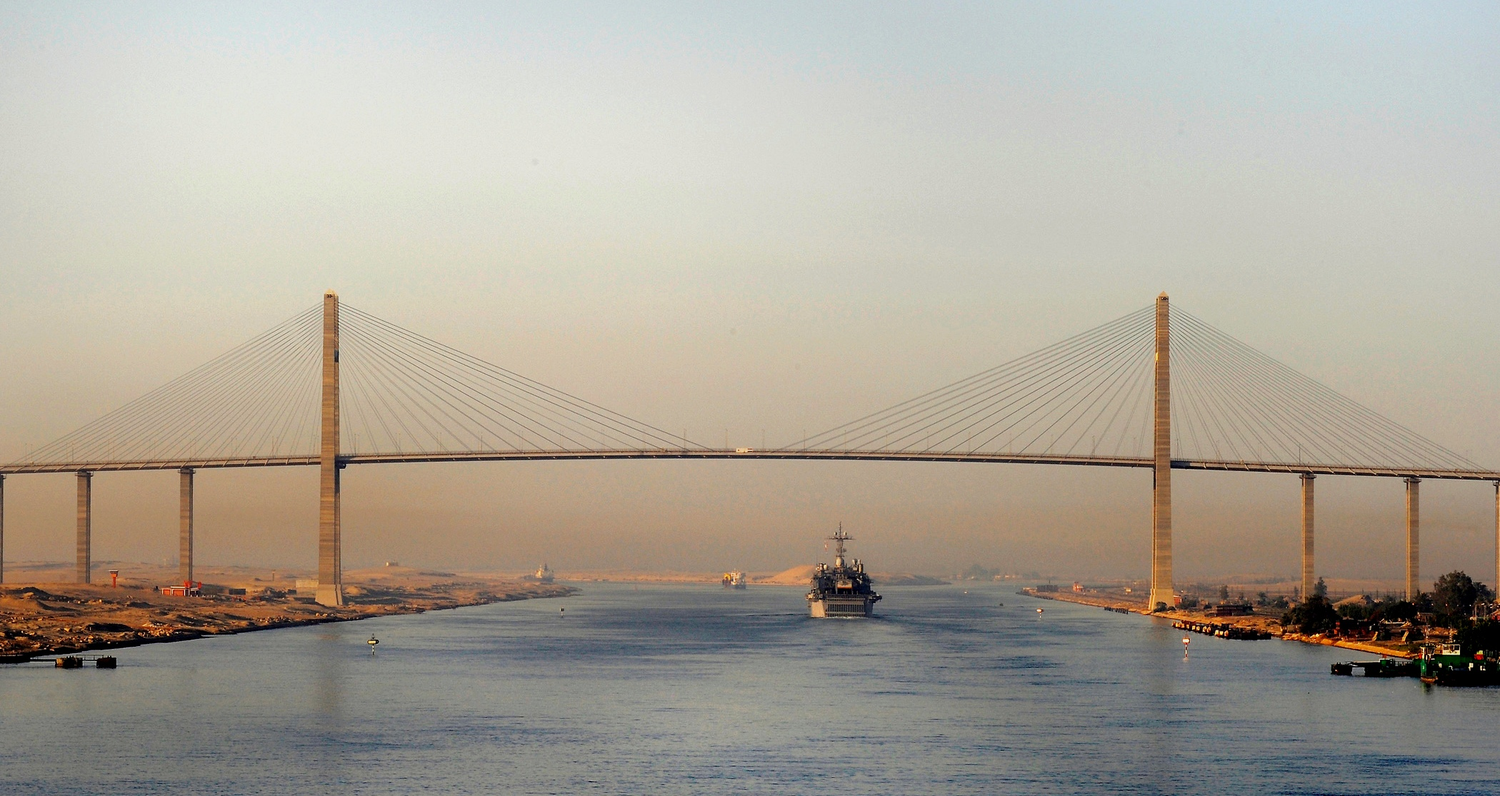 Depiction of Canal de Suez