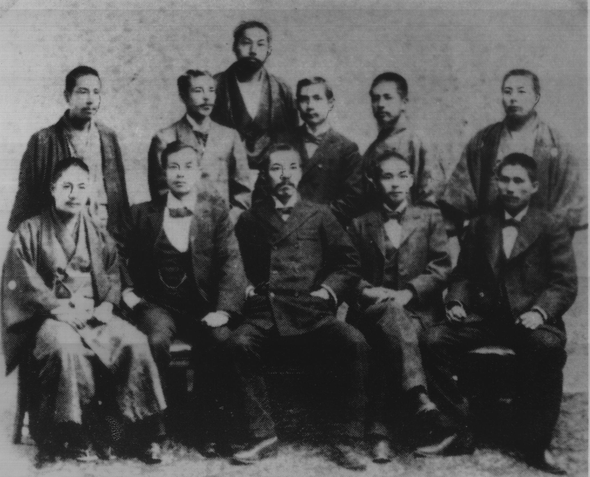 1898年興中會會長楊衢雲等人於日本的合照。(圖片來源:維基百科)