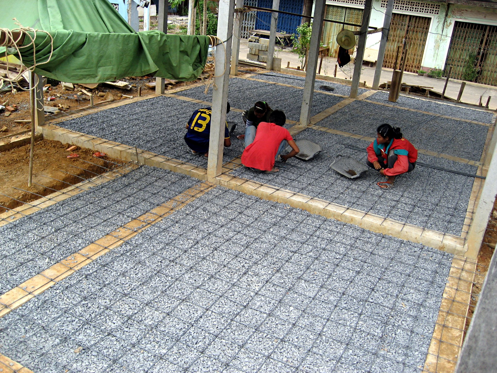 File Thai House Floor Slab Rebar Mesh Jpg Wikimedia Commons