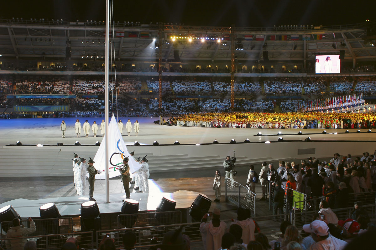 FileThe Olympic Flag In 2006 Winter Olympics Opening Ceremony