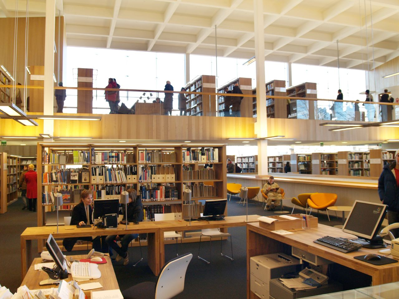 Wonderful File:Turku Main Library, New Part, Interiors (b)