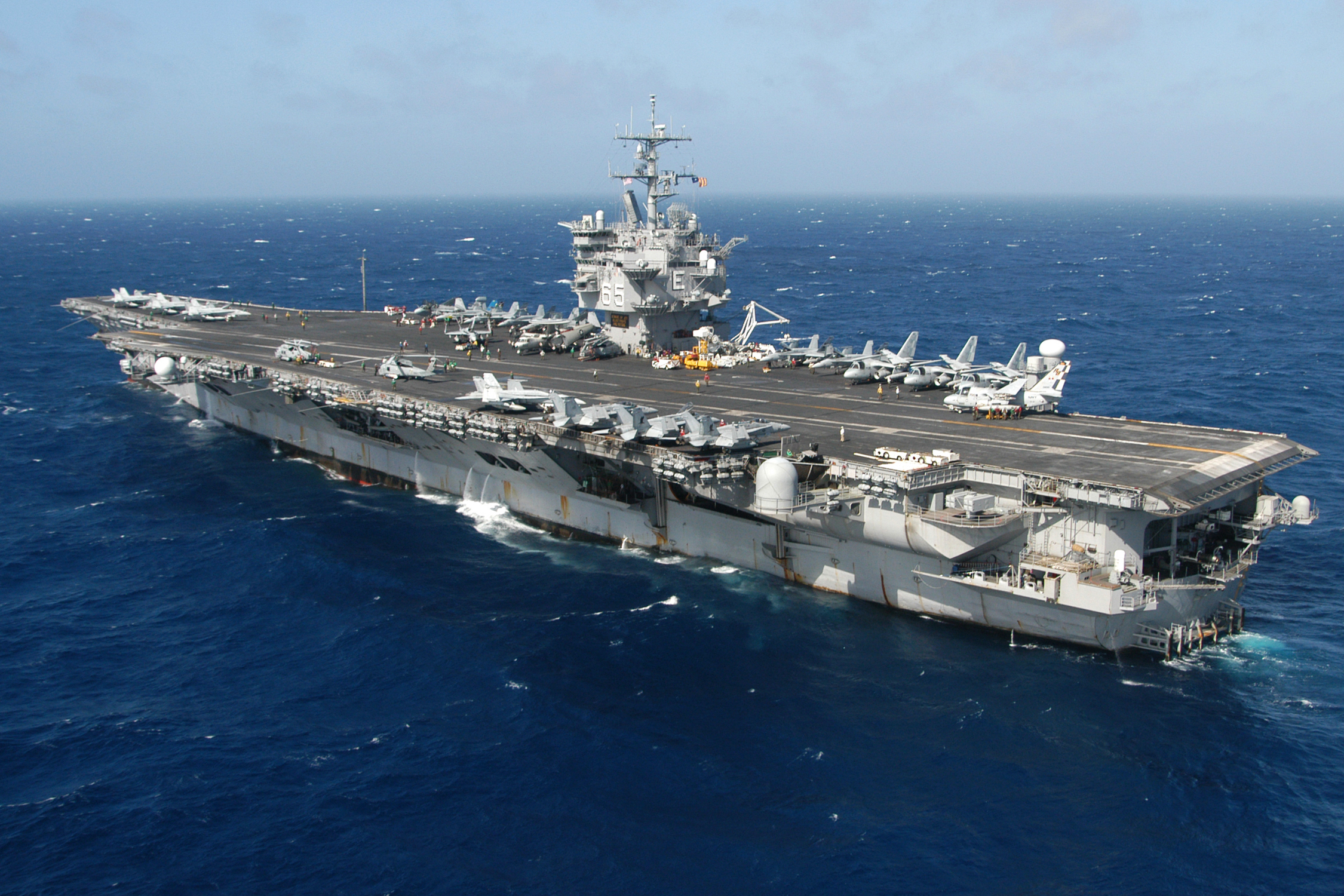 CVN 77 welcomes UNSECNAV onboard   Naval Today
