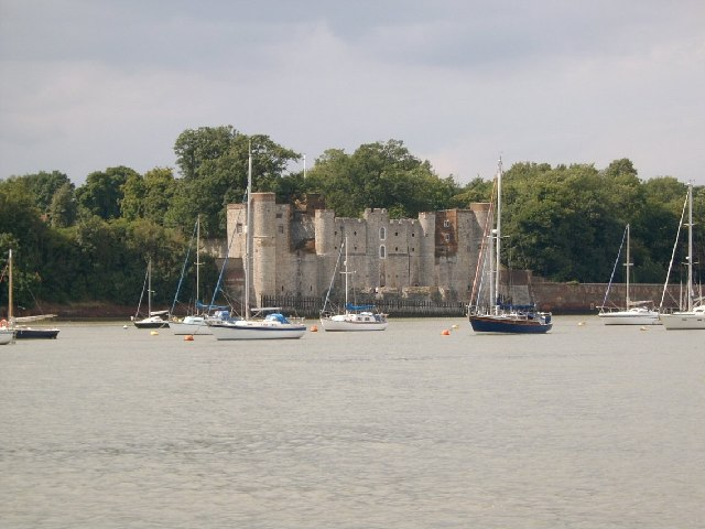 Upnor Castle from the river (Upnor Reach)