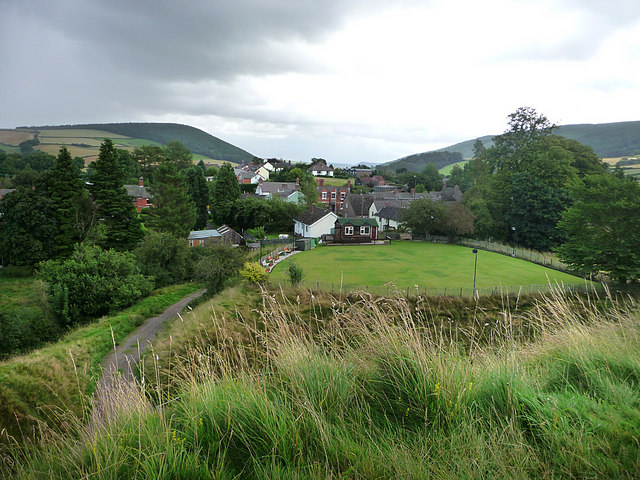 View from Clun Castle - geograph.org.uk - 1542200
