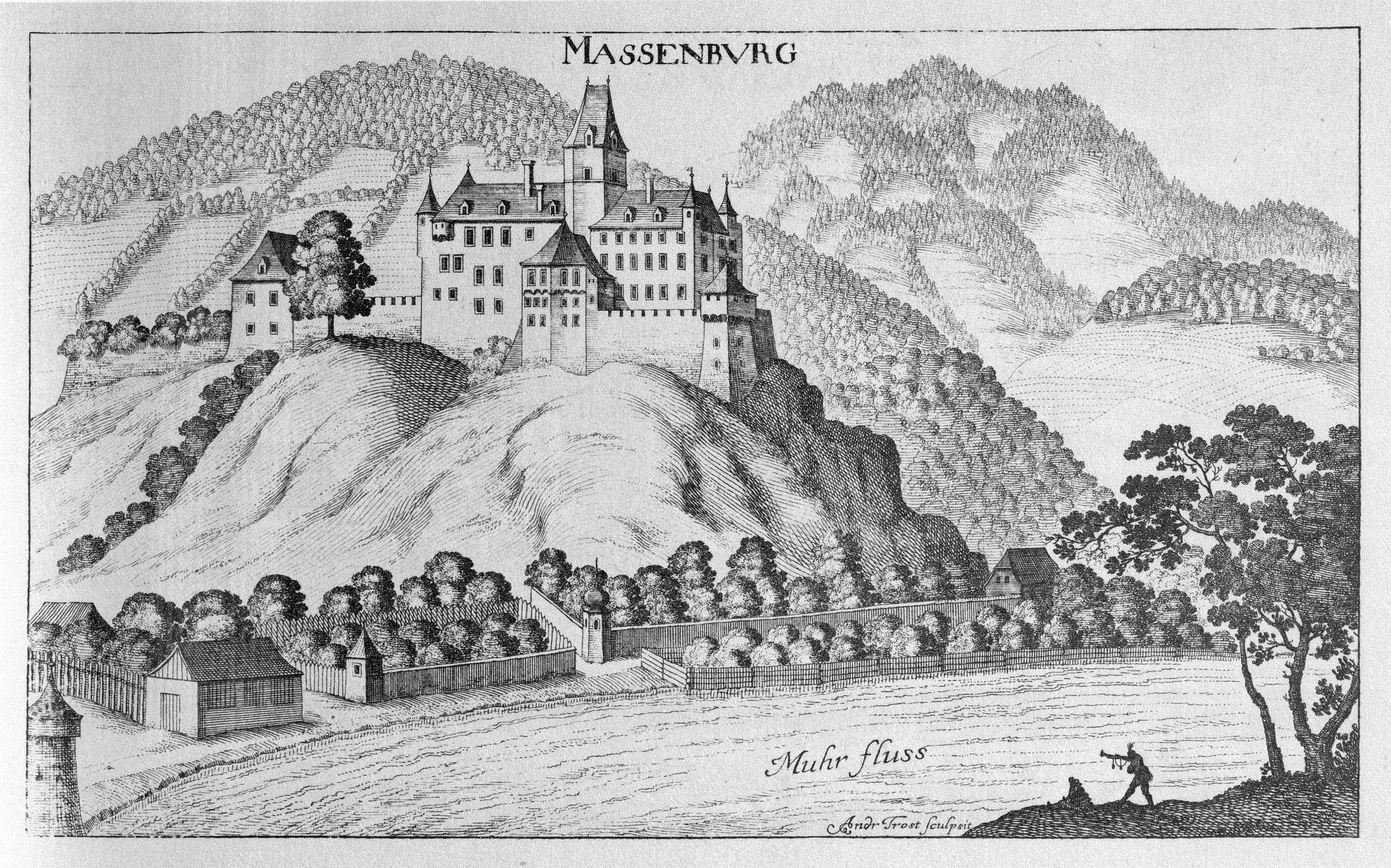 Datei:Vischer - Topographia Ducatus Stiria - 256 Massenburg bei Leoben.jpg  – Reiseführer auf Wikivoyage