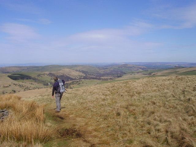 Walker on Andrews Edge - geograph.org.uk - 1802040