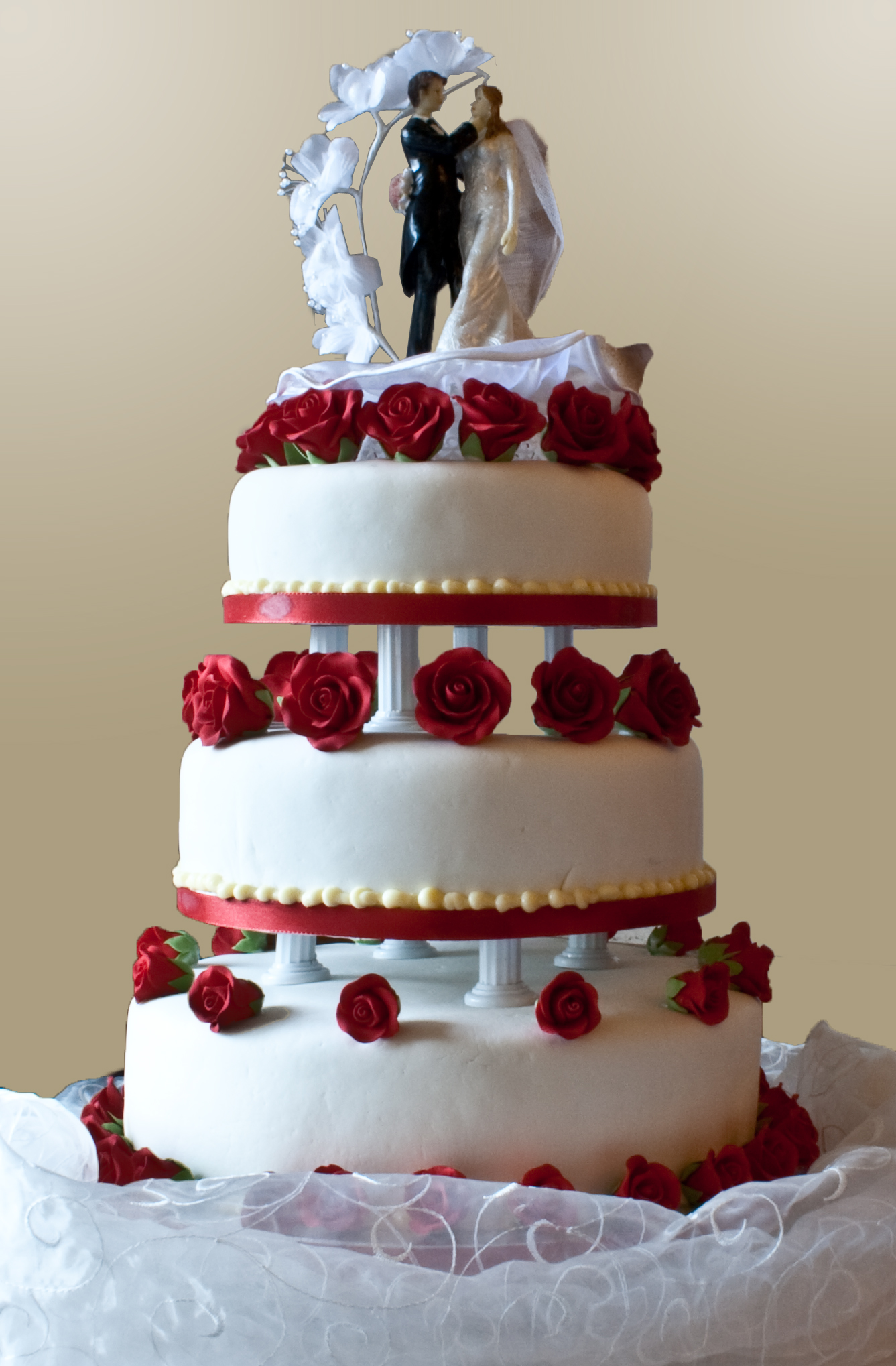 Bride who in cake