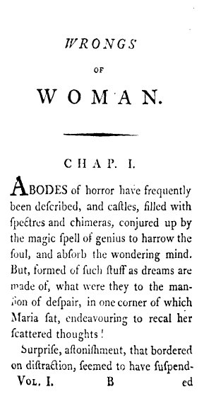 Quotes From A Vindication Of The Rights Of Woman: Maria: Or, The Wrongs Of Woman