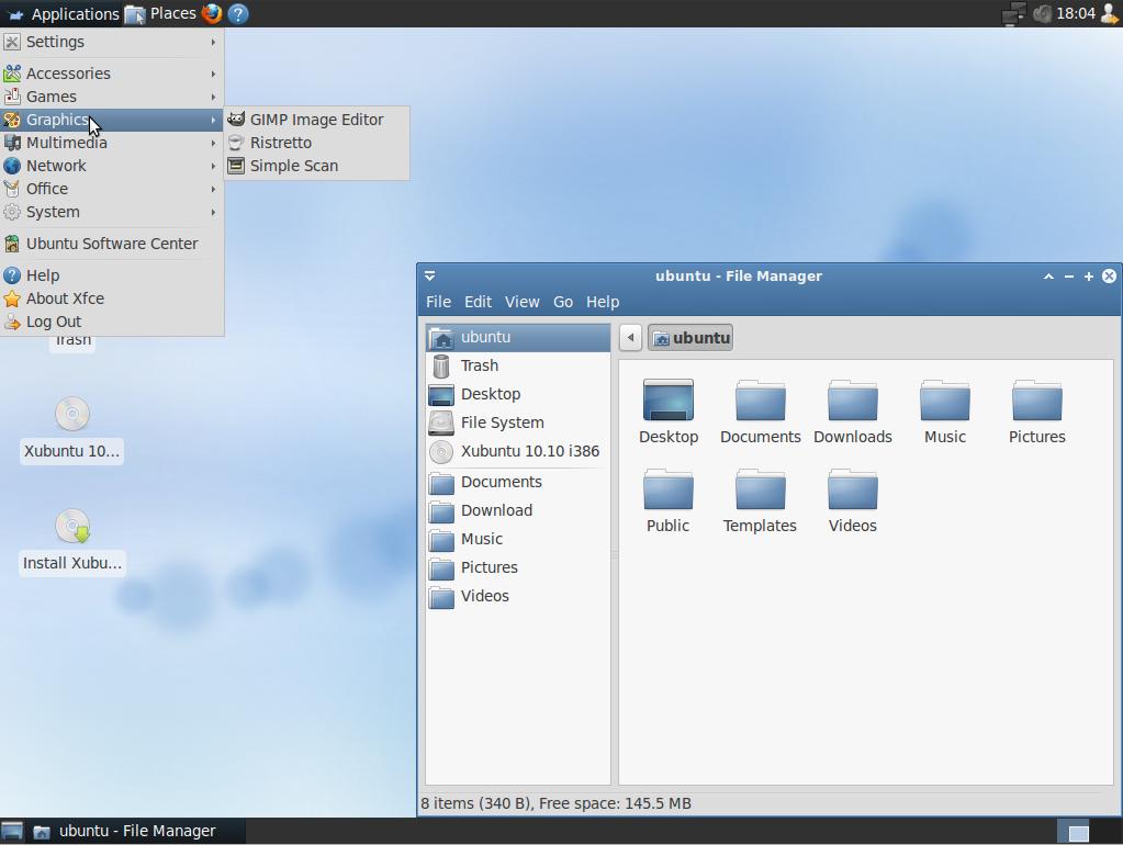 xubuntu : système linux pour remplacer windows xp, windows vista