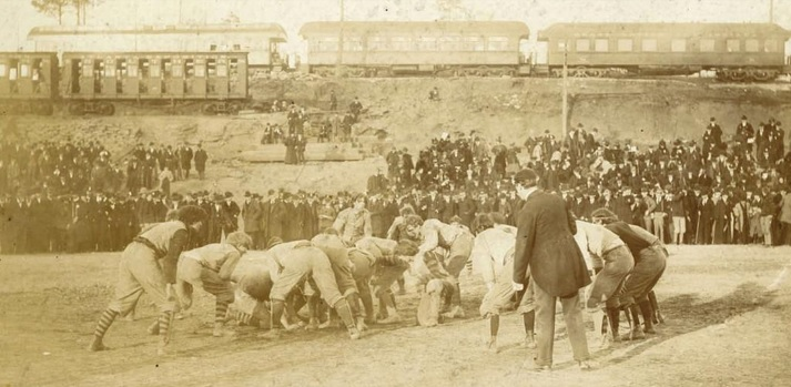 1895 football game between Auburn and Georgia.
