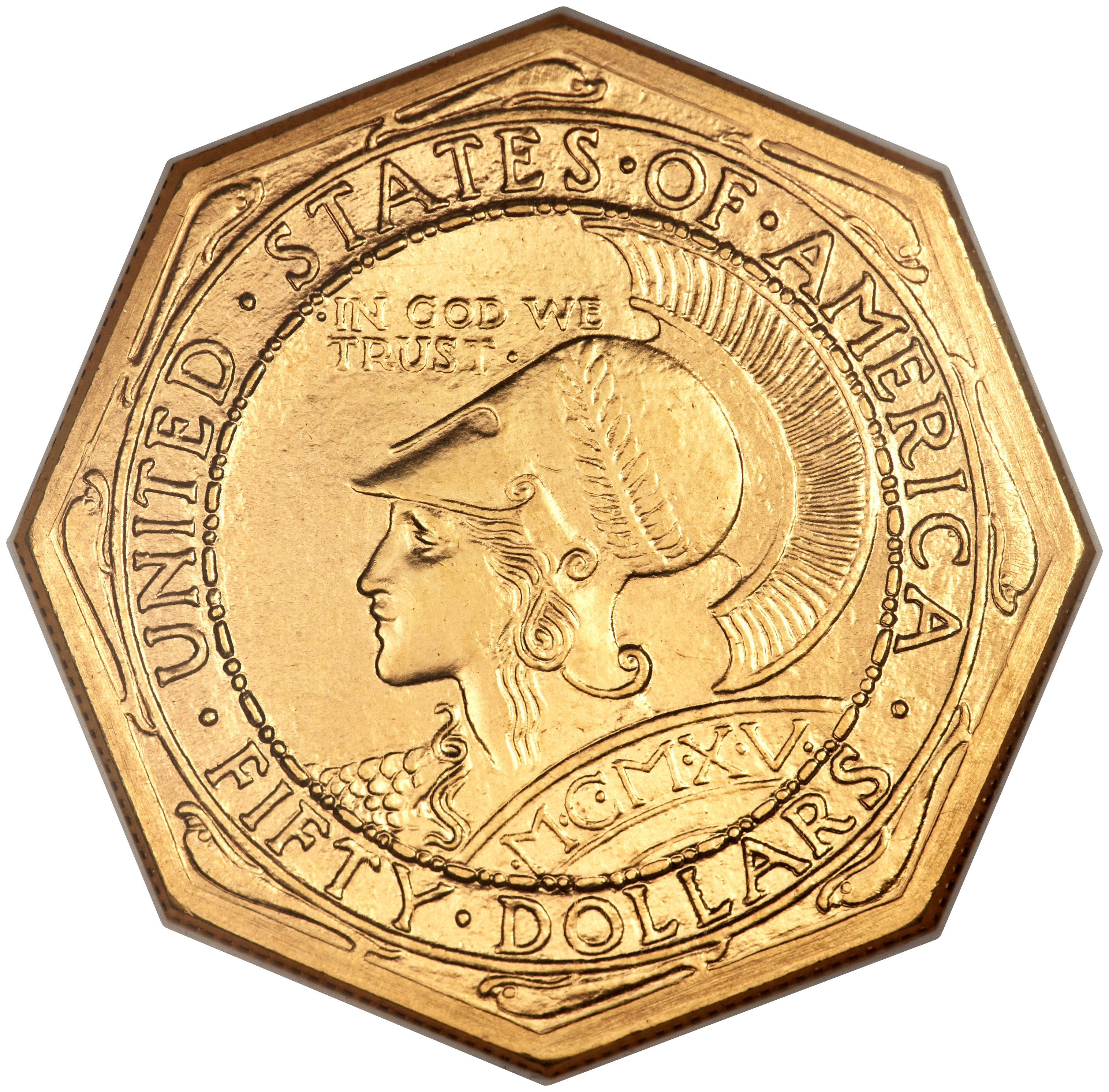 Background image 50 transparent - File 1915 S 50 Panama Pacific 50 Dollar Octagonal Obv Transparent