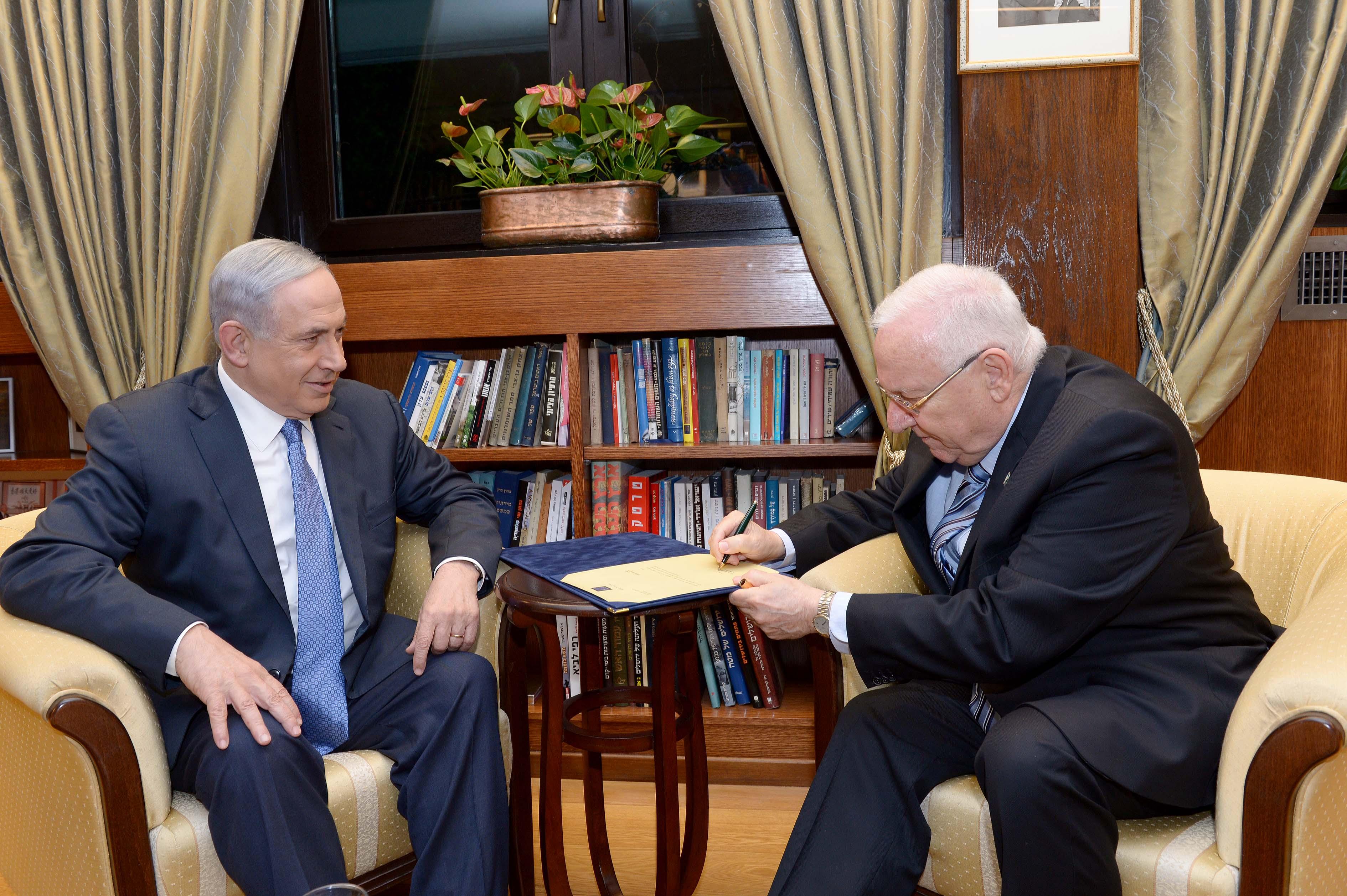 הנשיא ריבלין עם ראש הממשלה נתניהו