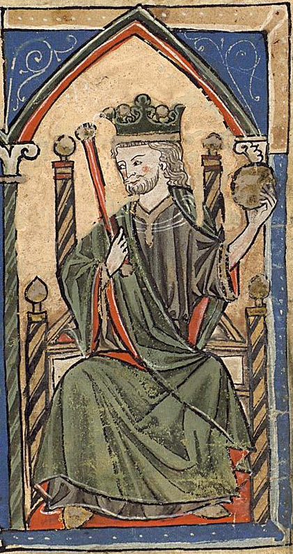 Alfonso VIII en una miniatura medieval