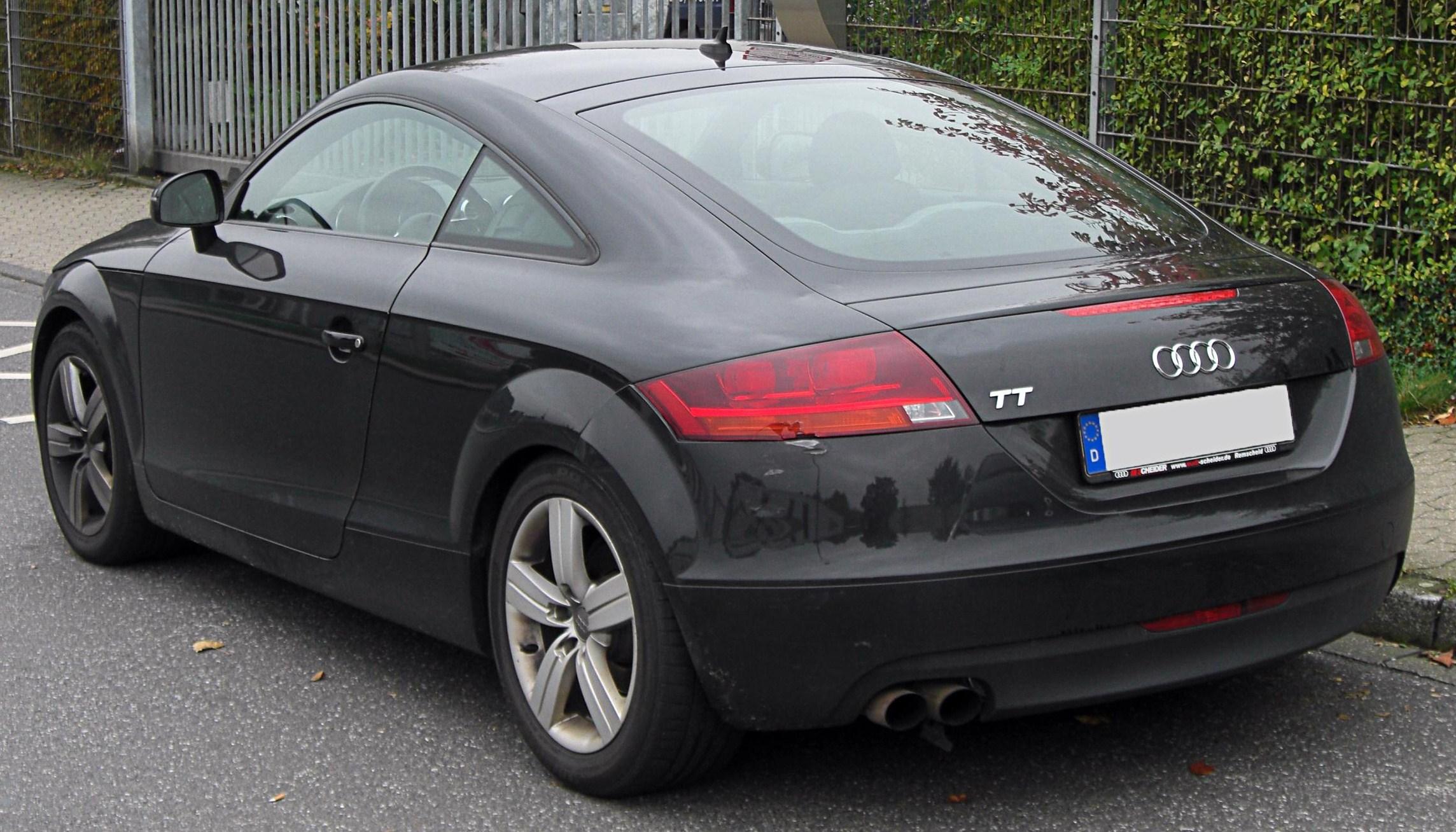 File Audi Tt Coup 233 Ii Rear 20091011 Jpg Wikimedia Commons
