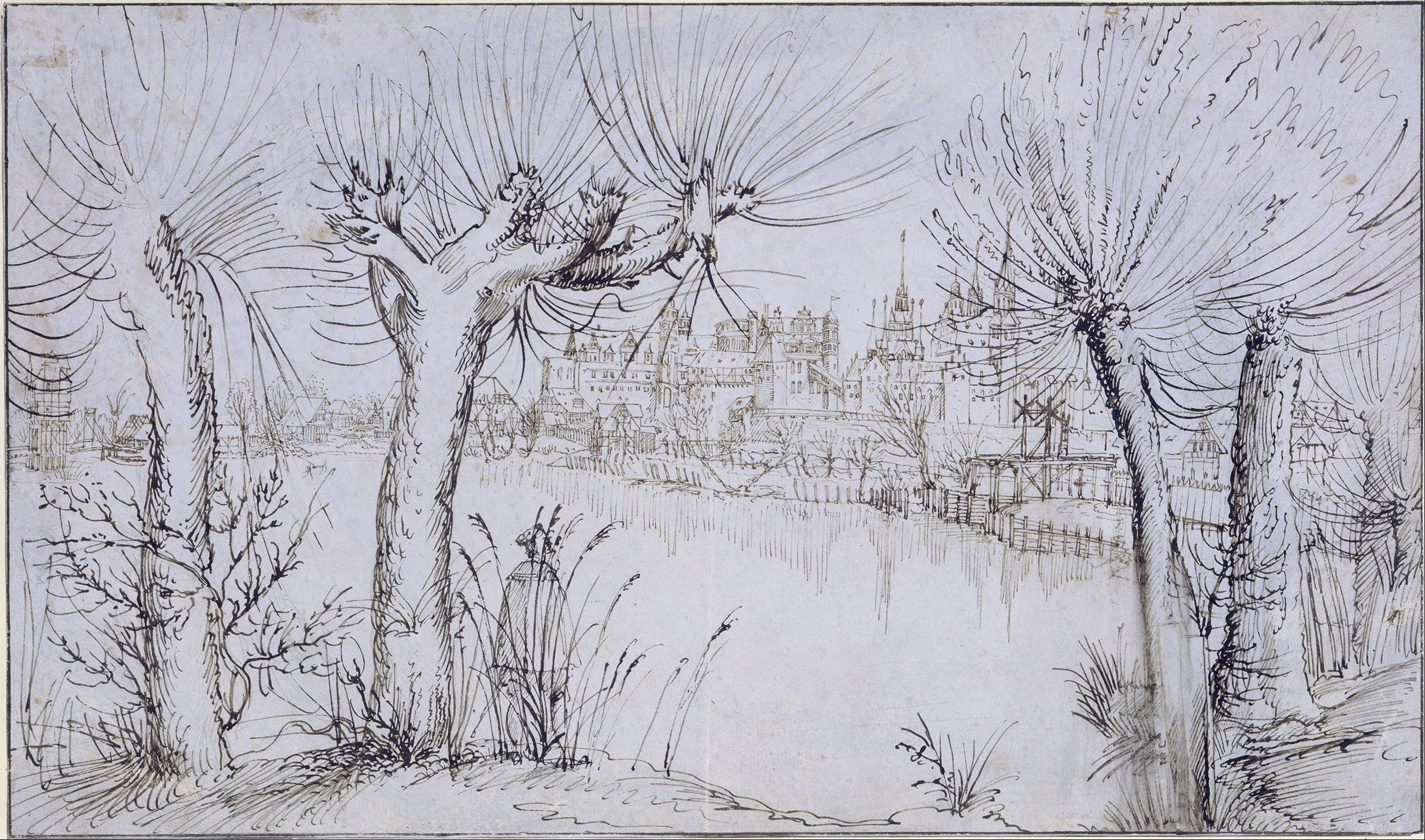 File Augustin Hirschvogel Pond Before A Town Google
