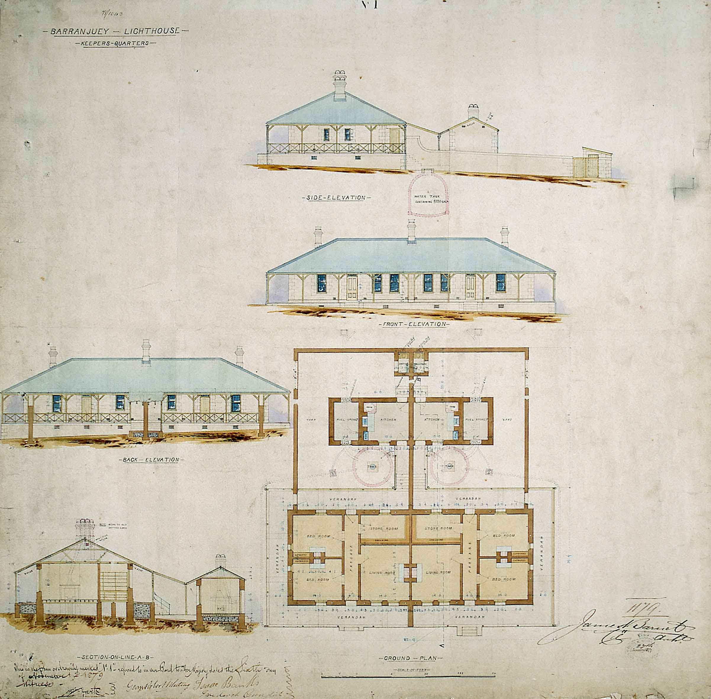 File barrenjoey head lighthouse keepers quarters plans for Lighthouse blueprints plans