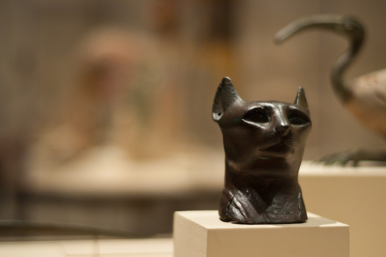 Bastet Head, Late Period, Egypt (5899222247).jpg