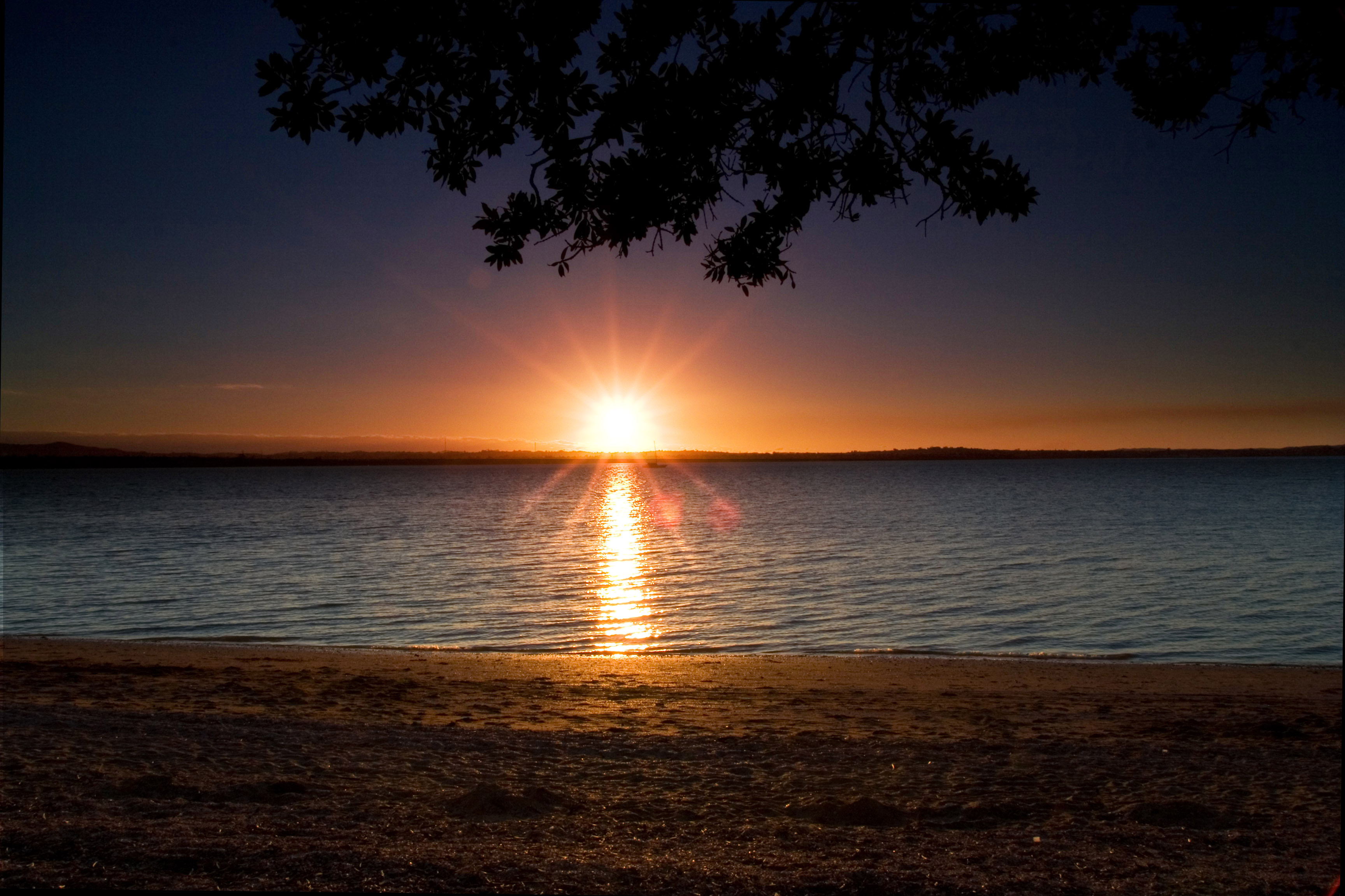 File Beach Sunset At Point Chevalier Auckland Jpg