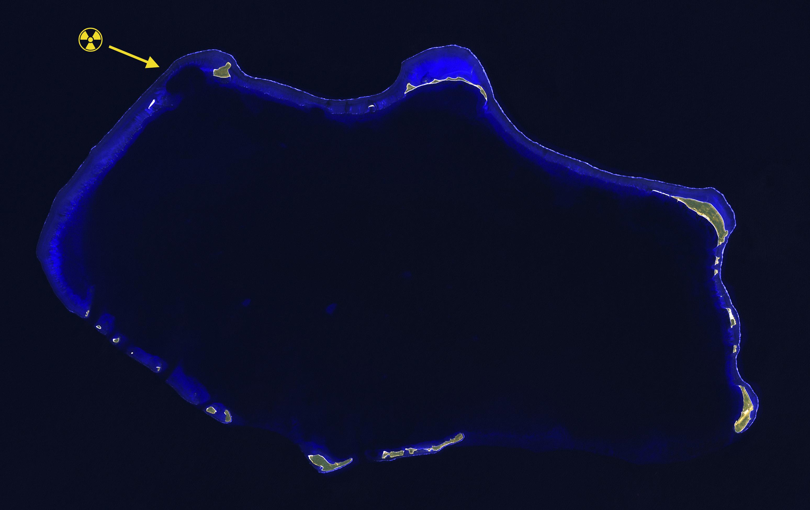 File:Bikini Atoll 2001-01-14, Landsat 7 ETM+ bands 7-5-1-8