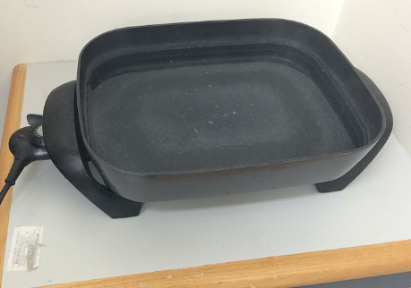 Black Electric Frying Pan on Point Electric Ranges