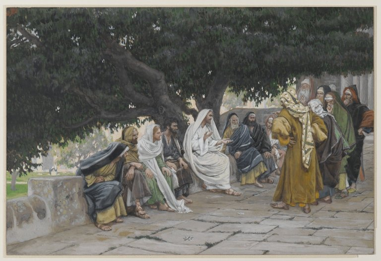 Brooklyn Museum - The Pharisees and the Saduccees Come to Tempt Jesus (Les pharisiens et les saducéens viennent pour tenter Jésus) - James Tissot - overall